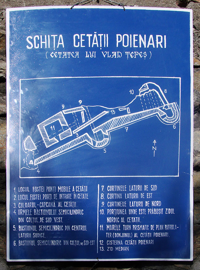 Map of Castle Poenari